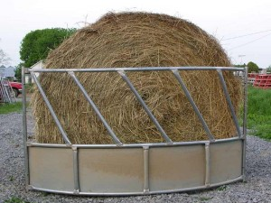 galvanized hay feeder