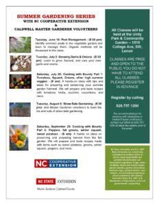 Cover photo for Summer Gardening Series Begins June 18