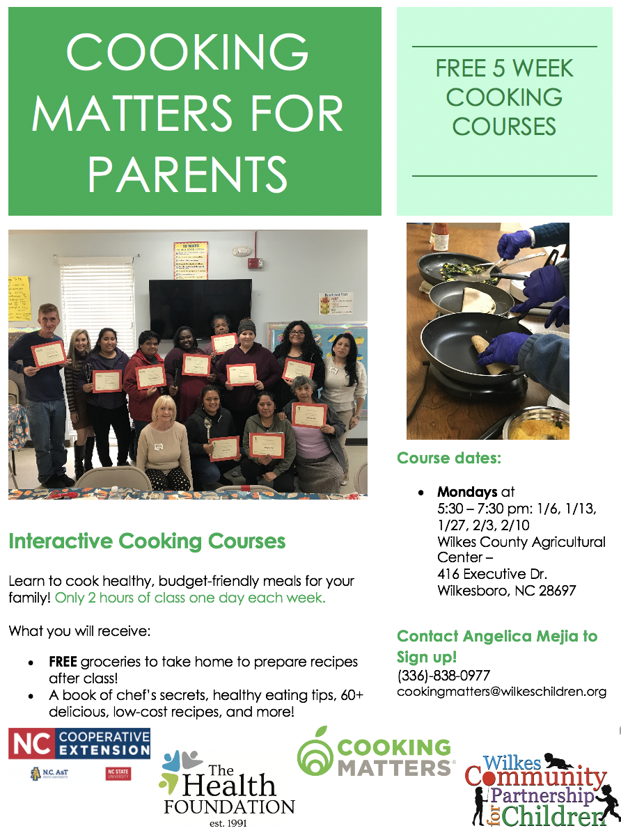 Cooking Matters for Parents flyer