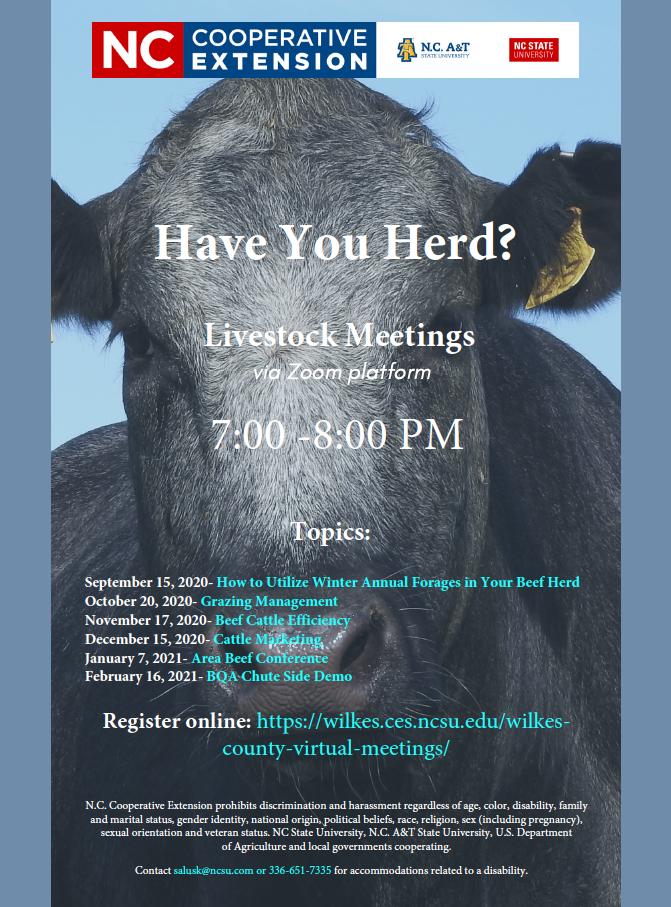 cattlemen's meeting schedule with cow