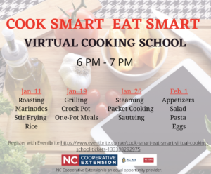Cover photo for Cook Smart Eat Smart: Virtual Cooking School