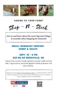 Cover photo for Shop-N-Stock Small Ruminant Session